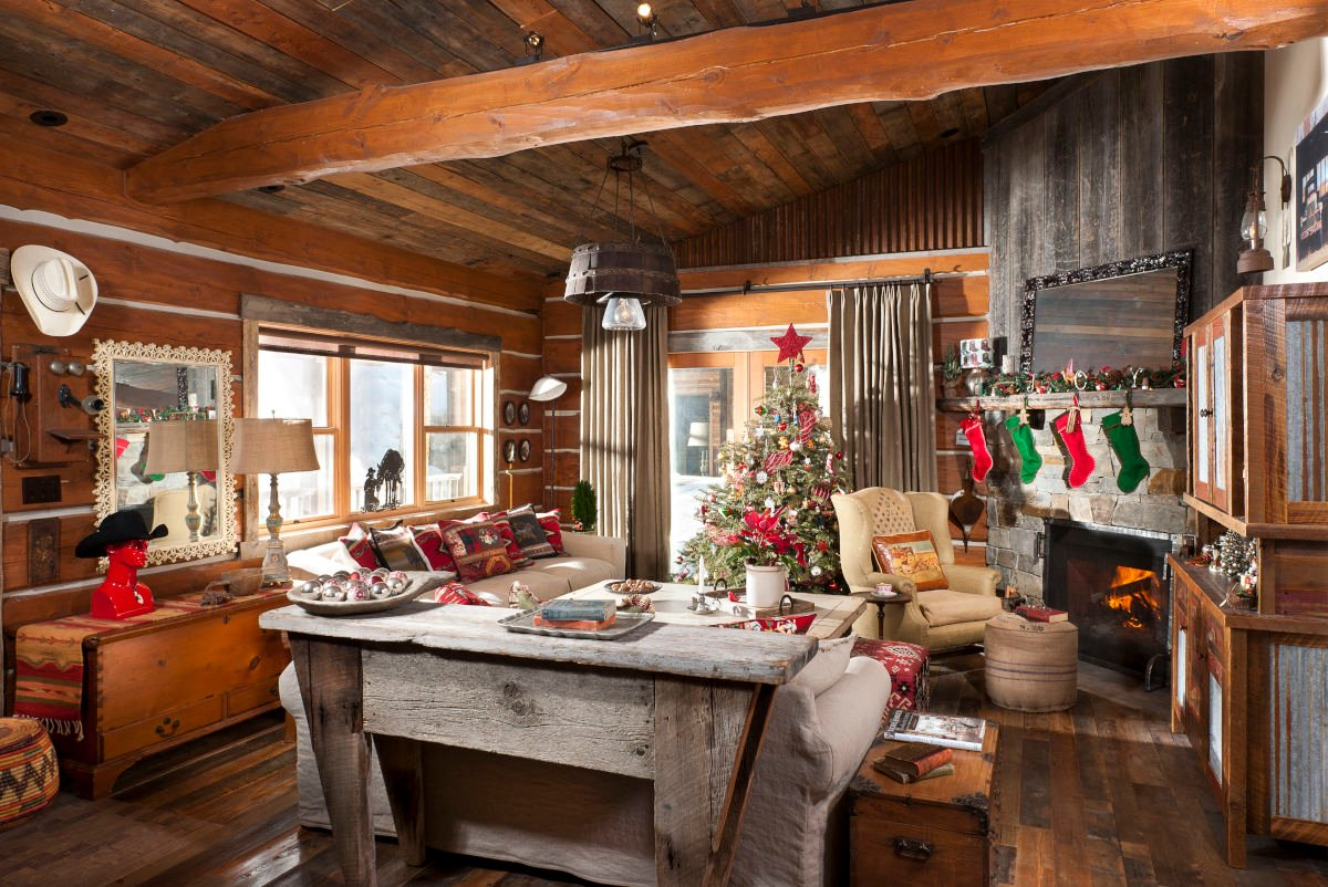 Rustic Cabin Photos Living Room