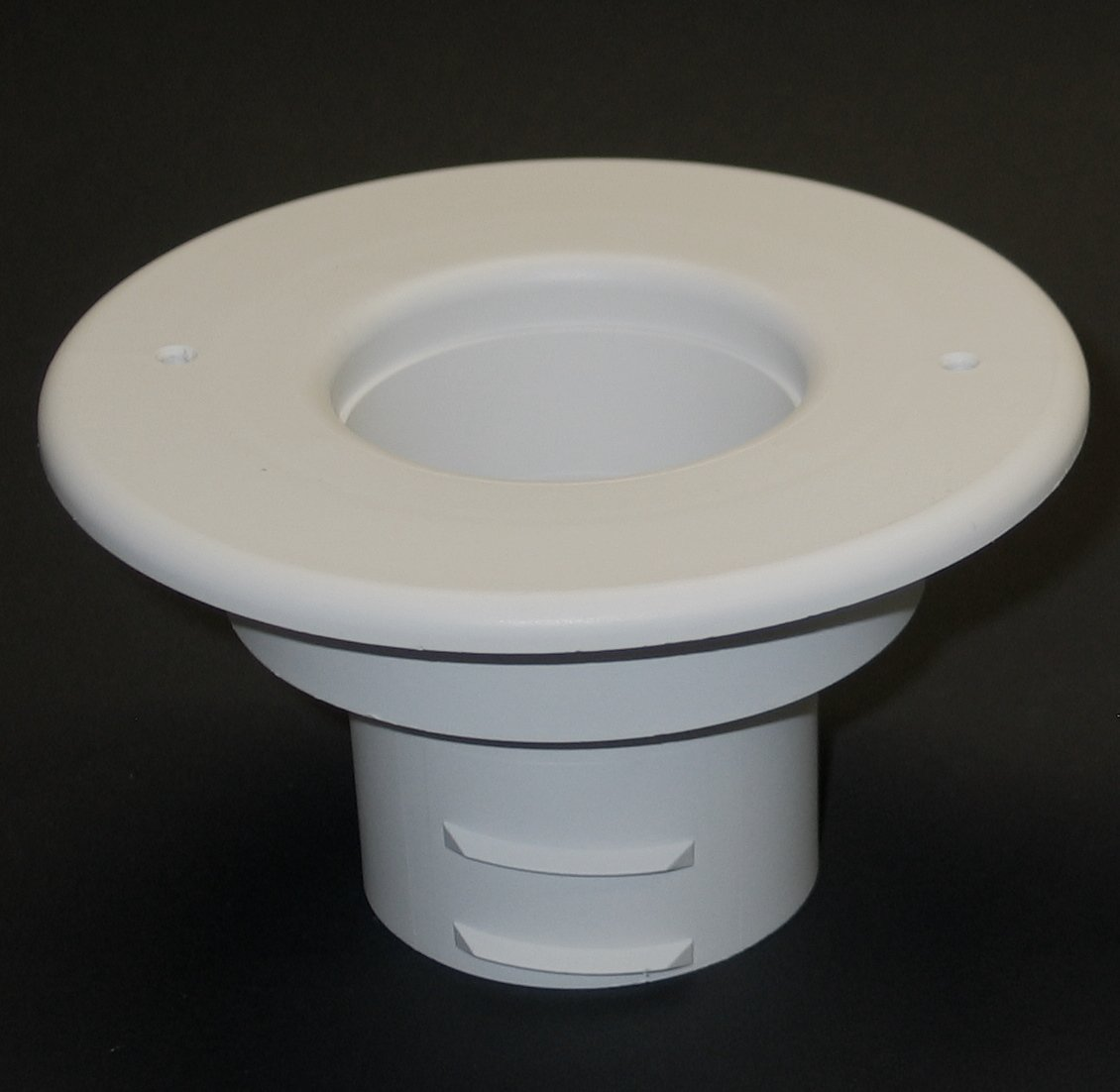 "Round Supply Outlet, 2.5"", White plastic"