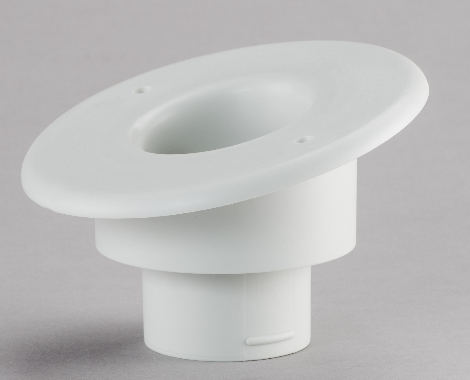 "Round Supply Outlet, 2"", White, 15° Sloped"
