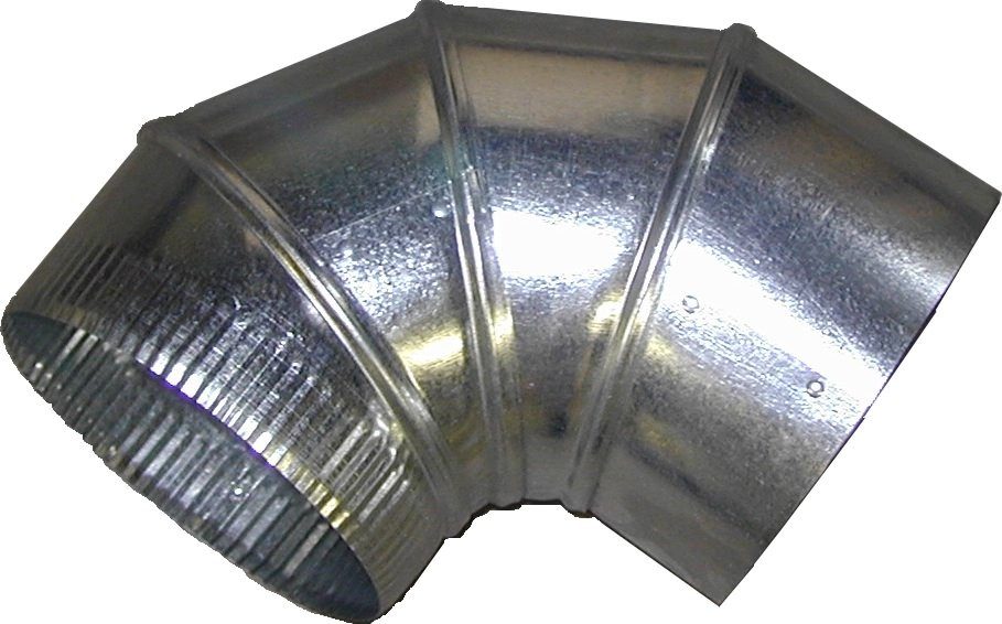 "Galvanized Elbow, 7"" x 28GA, 12/bx"