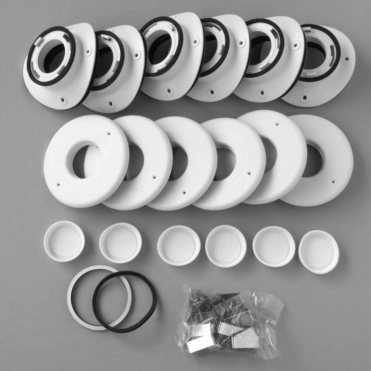 "Install Kit, 2"", Round Metal Plenum, TFS, (6pk)"