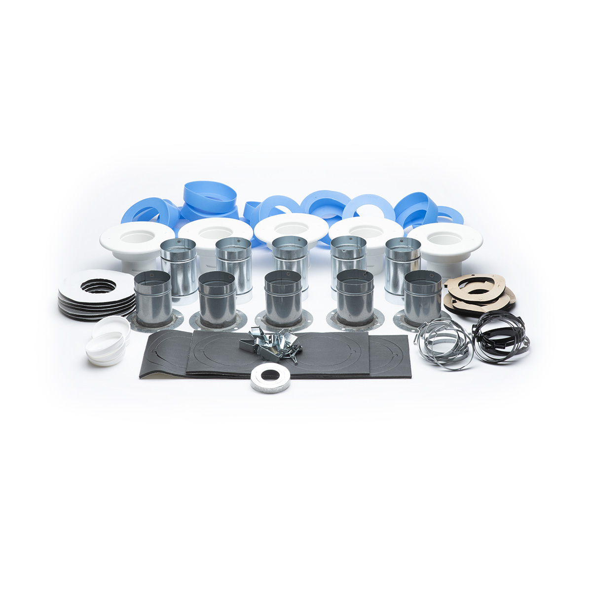 "Fittings Kit, 2.5""dia x Flat Metal Duct, 5/bx"